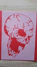 1767 Schablonen Schädel Wandtattoo Stencil Wandbilder Airbrush Wanddekoration