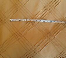 4 meters Faux Silk Taffeta Curtain Fabric Trellis Design Laura Ashley Gold