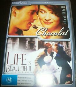 Life Is Beautiful + Chocolate DVD - 2 Movie Double - SAME / NEXT DAY - FAST POST