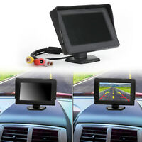 "4.3"" Monitor Rear View HD TFT LCD Display Voiture Caméra de Recul Monitor FR"