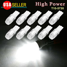 10X White High Power T10 Light LED License Plate Dome Map Bulbs W5W 192 158 2825