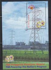 MALAYSIA 1999 50TH ANNIV. NAT'L ELECTRICITY CO. (POWER CABLE TOWER) SHEET STAMP