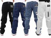 Georgio Peviani Mens Denim Jeans, Comfort Straight Fit, Star, Time G Money Is