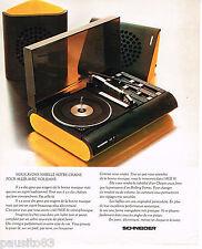 PUBLICITE ADVERTISING 065  1974  SCHNEIDER  chaine   hi-fi AGE 81