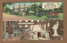 Sauk City,WI Wisconsin Spellman Granite Works, split views, interior/exterior