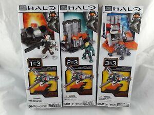 Halo Mega Bloks 97131 97133 97170 Collect & build Console hanger terminal