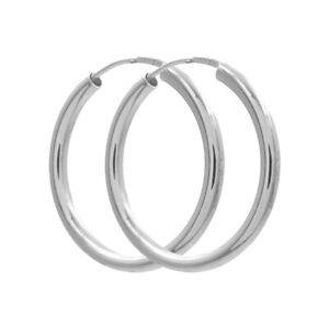 Rohr - Creolen  925/000 Silber  hochglanzpoliert    Ø 20,0mm