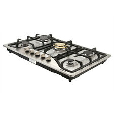 "Metawell Brand 30"" Stainless Steel 5 Burners Cooktop Built-in Natural Gas Cooker"