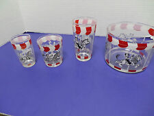 VTG HAZEL ATLAS 50S COCKTAIL SHAKER ICE BUCKET  GLASS BARWARE