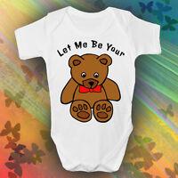 Let Me Be Your Teddy Bear Baby Grow Newborn 0-3, 3-6, 6-9, 9-12 Months Elvis