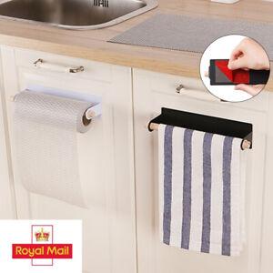 Kitchen Towel Holder Roll Paper Toilet UnderShelf Cabinet Storage Rack Hanger