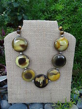Mustard Bumble Bee Jasper Necklace, Stone Necklace, Bumble Bee Indonesian Yellow