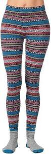 Cuddl Duds Women's Size:LARGE 2-Pc. Super-Soft Printed Legging Sock Set FAIRISLE