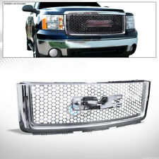 Fits 07-13 Gmc Sierra 1500 Chrome Round Hole Mesh Front Hood Bumper Grill Grille (Fits: Gmc)