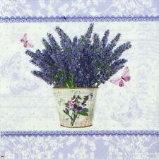 4x Tovaglioli di carta per Decoupage Decopatch Craft fioritura Lavanda