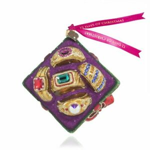 Jay Strongwater - Glass Holiday Ornament - Five Golden Rings