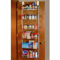 Over the Door Storage Spice Rack Kitchen Space Saver Pantry Shelf Organizer