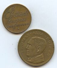 Exonumia Two Diff Electrical Celeb Medals (#8118) Electrical Progess Expo. 25Mm