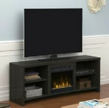 ELECTRIC FIREPLACE TV STAND Media Console Heater Black Walnut Storage 65'' NEW