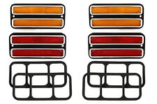 (4) 68-72 Chevy GMC Truck Front Amber & Rear Red Side Marker Light Lamps Set