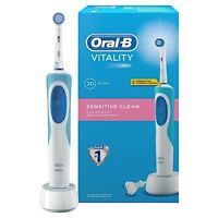 Braun Oral-B Vitality Sensitive Clean Rechargeable Electric Power Toothbrush