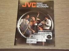 JVC boom box Cassette Recorders Vintage portable original catalogue