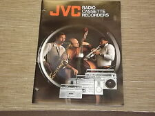 JVC boombox Cassette Recorders Vintage portable original catalogue Printed Japan