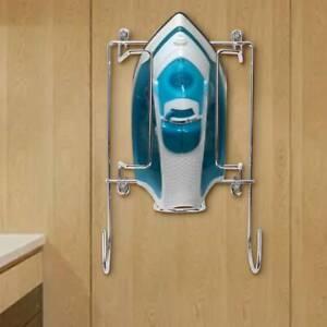 2 In 1 Iron & Ironing Board Holder Wall, Door or Cupboard Mounted Hanger