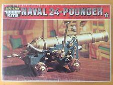 """Vintage Life-Like Model Kit """"Naval 24-Pounder"""" #09690 - NOS"""
