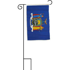 """12x18 12""""x18"""" State of New York Sleeved w/ Garden Stand Flag"""