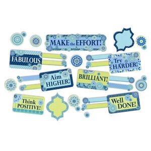 EU 847778 Blue Harmony Class Management Bulletin Board Set Classroom Decorations