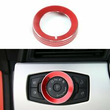 Red Aluminum Headlight Switch Button Knob Cover Trim for Ford Mustang 2015-2019