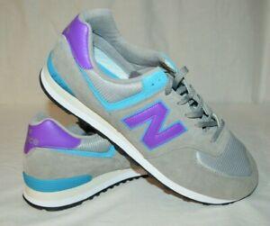 New Balance 574 ML574SML Mens 18 2E Rain Cloud Purple Teal Running Shoes NWOB