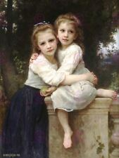 WILLIAM ADOLPHE BOUGUEREAU TWO SISTERS OLD MASTER ART PAINTING PRINT 3160OMLV