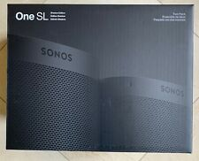 2 Pack Sonos 1 One SL Shadow Edition Wireless Smart Speaker B20SLUS1SDHB