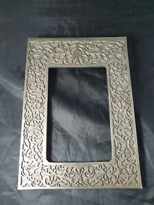 Art Deco Style Heavy Clip Metal Carved Photo Frame Front For Restoration