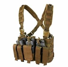 CONDOR MOLLE Tactical Recon Chest Rig Mag holder Vest mcr5-498 COYOTE BROWN