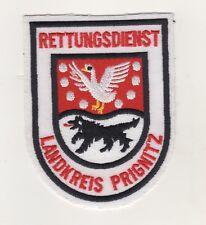 Uniform Aufnäher Patches Ärmelabzeichen Rettungsdienst Landkreis Prignitz / Rot