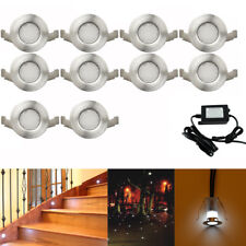 10X Φ19mm Waterproof Low Voltage Garden LED Deck Step Light Outdoor Stairs Lamp