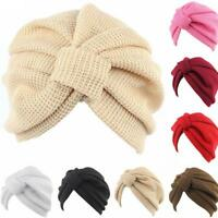 AU Ladies Stretch Headcover Head Wrap Beanie Chemo Bandana Knitted Hat Turban w/