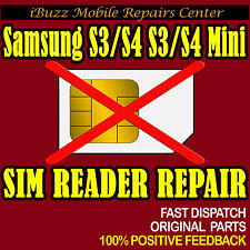 Samsung Galaxy S3 S4 S3 Mini S4 Mini SIM READER REPLACEMENT REPAIR SERVICE