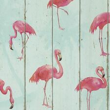 Rasch Barbara Becker Flamingo Wallpaper-Cerceta 479706