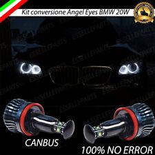KIT ANGEL EYES H8 A LED CREE CANBUS 6000K PER BMW X1 E84 20W BIANCO GHIACCIO