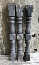 "3 Vintage Antique Wood 24"" Architectural Pillar Baluster Post Spindle Post"