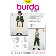 Burda Sewing Pattern Kids Boys Biedermeier Trouser Suit Costume 9528