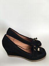 Aldo Womens Block Wedge Heel Pumps Court Shoes Tassel Size 5 UK 38 EU Black