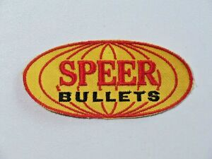 Vintage Speer Bullets Patch Hunting Firearms Rare Yellow With Red Used 7833