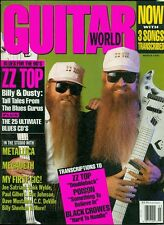 1991 Guitar World Magazine: ZZ Top Billy & Dusty/Metallica/Megadeth/Poison