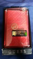 GUESS Heritage Wallet Clutch Case For Galaxy S5 Red new Original