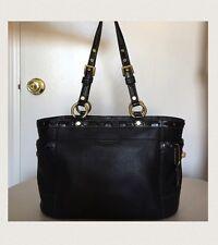 Coach Authentic Black Genuine Leather Handbag Excellent Condition